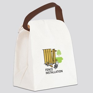 FENCE INSTALLATION Canvas Lunch Bag
