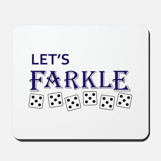 LETS FARKLE Mousepad