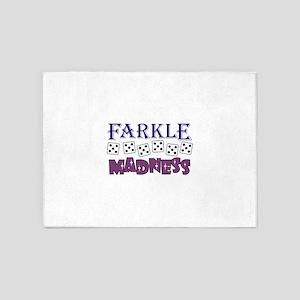 FARKLE MADDNESS 5'x7'Area Rug