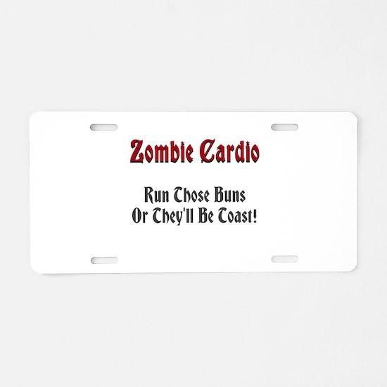 Zombie Cardio Aluminum License Plate
