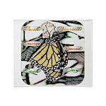 Light Butterfly Emerging Throw Blanket
