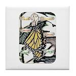 Light Butterfly Emerging Tile Coaster