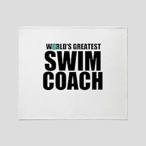 World's Greatest Swim Coach Throw Blanket