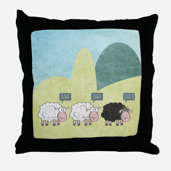 Cute Baa Throw Pillow
