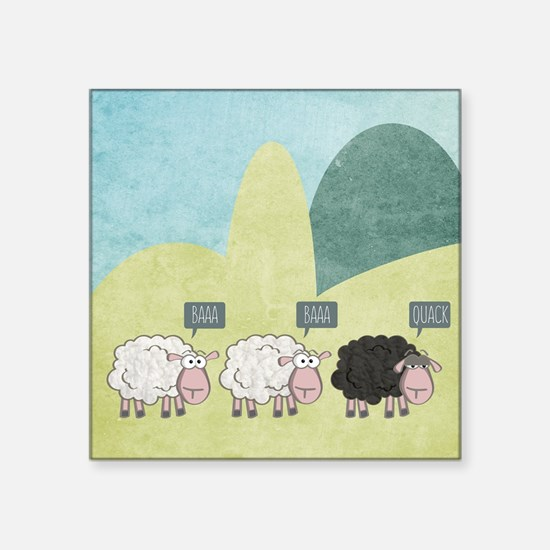 """Cute Boring Square Sticker 3"""" x 3"""""""