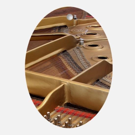 Inside a Piano Oval Ornament