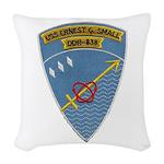 USS ERNEST G. SMALL Woven Throw Pillow