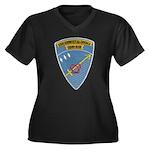 USS ERNEST G Women's Plus Size V-Neck Dark T-Shirt