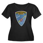 USS ERNE Women's Plus Size Scoop Neck Dark T-Shirt