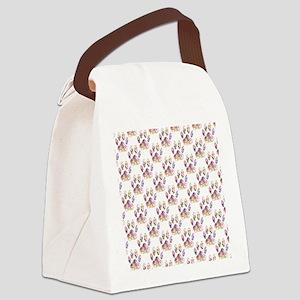 Paint Splatter Dog Paw Print Patt Canvas Lunch Bag
