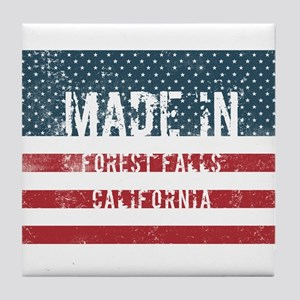 Made in Forest Falls, California Tile Coaster