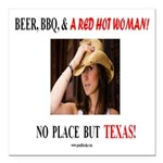 Welcome to Texas! #881 Square Car Magnet 3