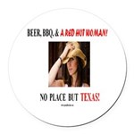 Welcome to Texas! #881 Round Car Magnet