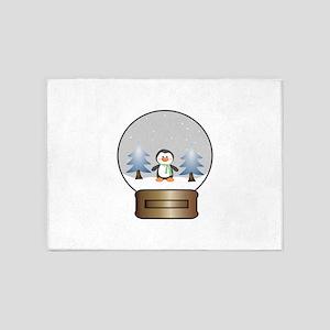 Penguin Snowglobe 5'x7'Area Rug