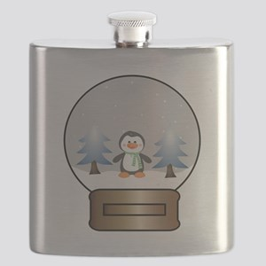 Penguin Snowglobe Flask
