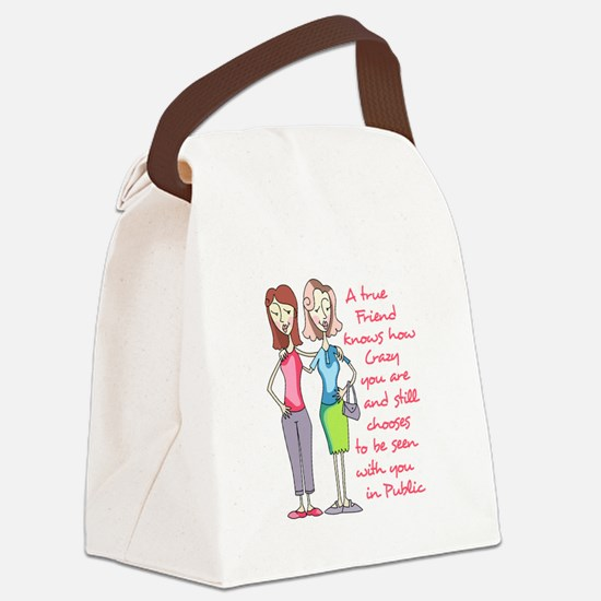 A TRUE FRIEND Canvas Lunch Bag