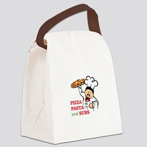 PIZZA PASTA AND SUBS Canvas Lunch Bag
