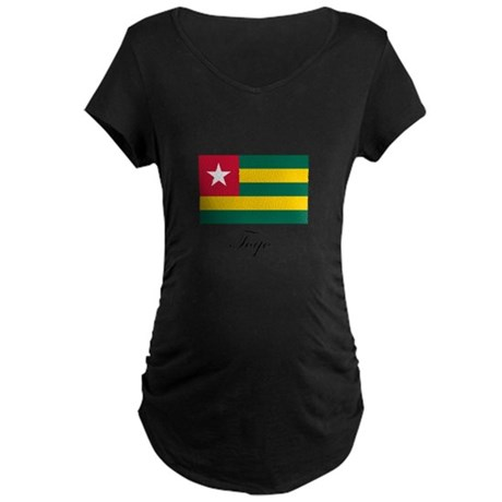 Togo - Flag Maternity Dark T-Shirt