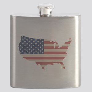 United States Flag Flask