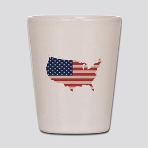 United States Flag Shot Glass