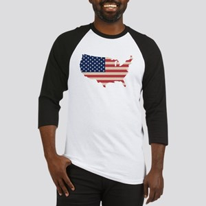 United States Flag Baseball Jersey
