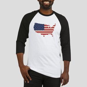United States Flag Baseball Jersey
