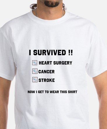 Survived White T-Shirt