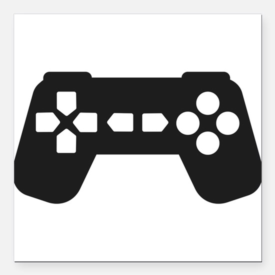 """Video Game Controller Square Car Magnet 3"""" x 3"""""""