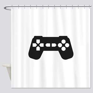 Video Game Controller Shower Curtain