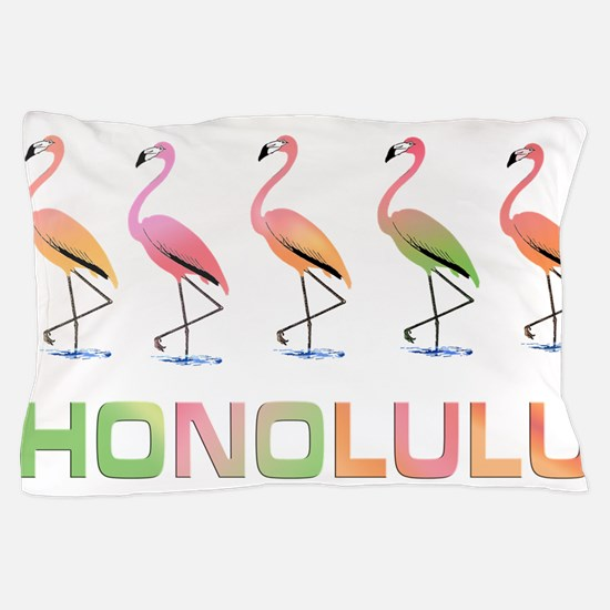 March of the Tropical Flamingos HONOLU Pillow Case