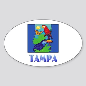 Macaw, Parrot, Butterfly, Jungle TAMPA Sticker
