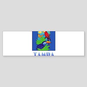Macaw, Parrot, Butterfly, Jungle T Bumper Sticker