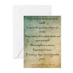 Echo by Christina Rossetti Greeting Cards