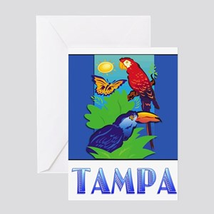Macaw, Parrot, Butterfly, Jungle T Greeting Cards