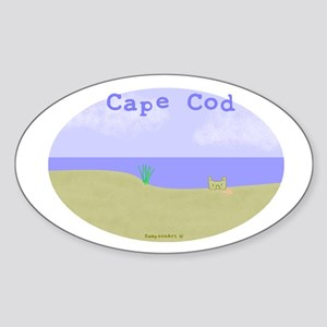 Cape Cod Oval Sticker