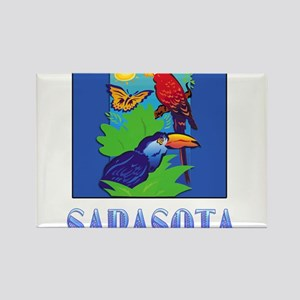 Macaw, Parrot, Butterfly, Jungle SARASOTA Magnets