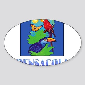 Macaw, Parrot, Butterfly, Jungle PENSACOLA Sticker