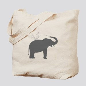 Elephant Silhouette Tote Bag