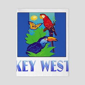 Macaw, Parrot, Butterfly, Jungle KEY W Twin Duvet
