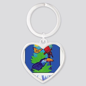 Macaw, Parrot, Butterfly, Jungle KEY WES Keychains