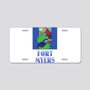 Macaw, Parrot, Butterfly, Aluminum License Plate