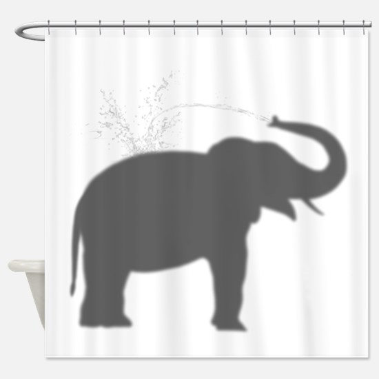 Elephant Silhouette Shower Curtain