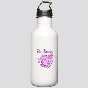 Line Dancing Heart Stainless Water Bottle 1.0L