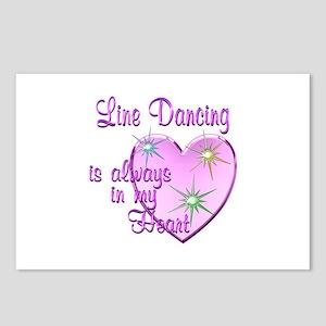 Line Dancing Heart Postcards (Package of 8)