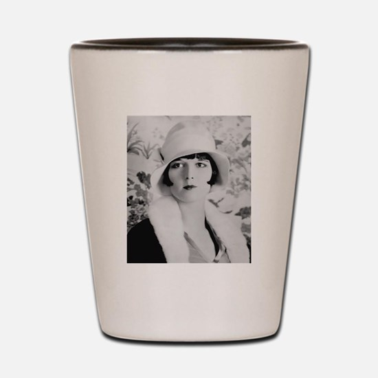 louise brooks silent movie star Shot Glass