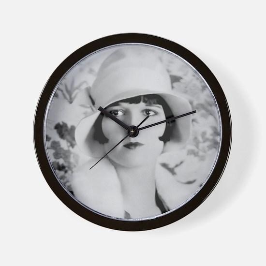 louise brooks silent movie star Wall Clock
