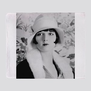 louise brooks silent movie star Throw Blanket