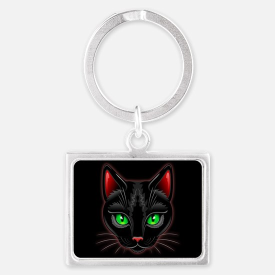 Black Cat Portrait Keychains