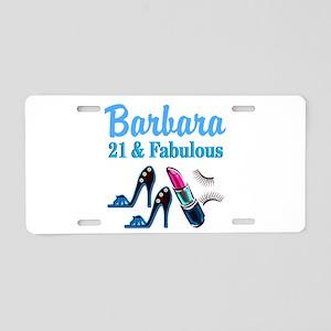 FANTASTIC 21ST Aluminum License Plate
