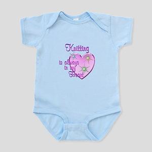 Knitting Heart Infant Bodysuit